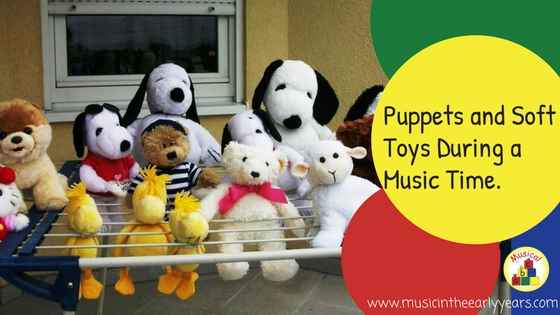 Puppets and Soft Toys During a Music Time.