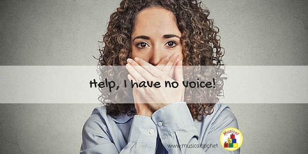 Help, I have no voice! copy