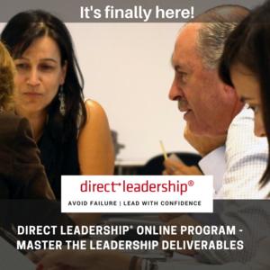 Direct Leadership Online Program - Master the Leadership Deliverables