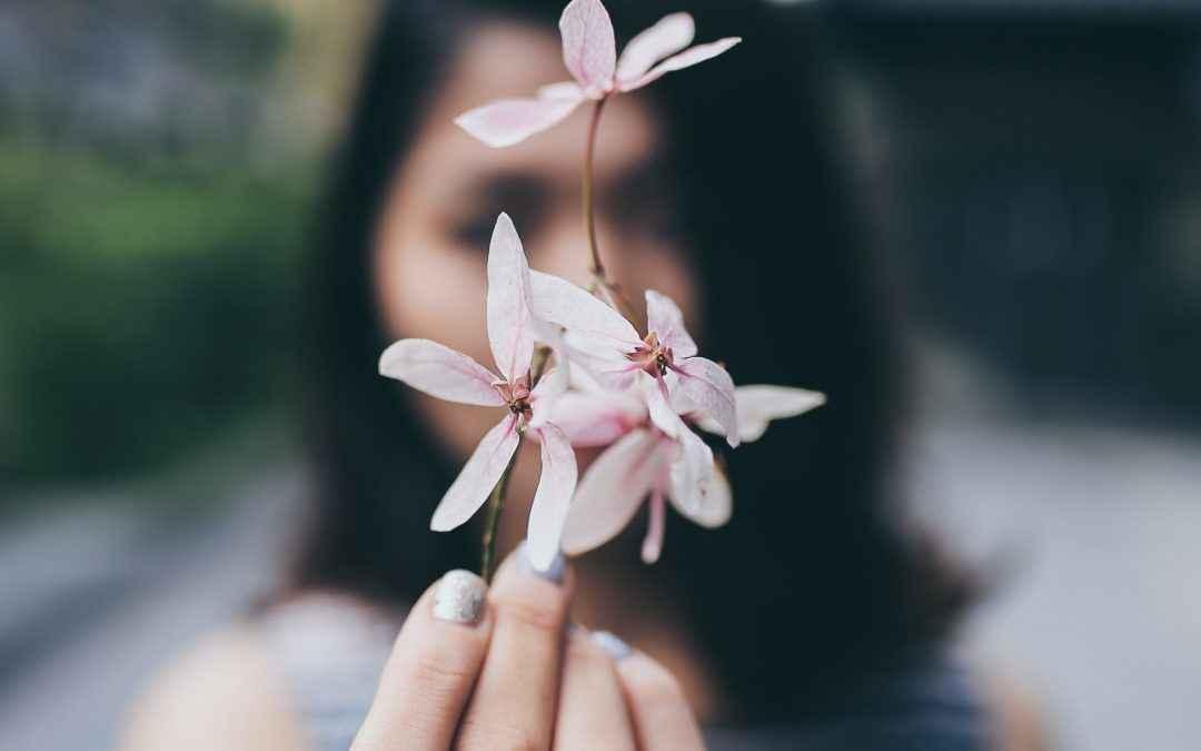 Image   Blog   Blank Image Girl Holding Flower