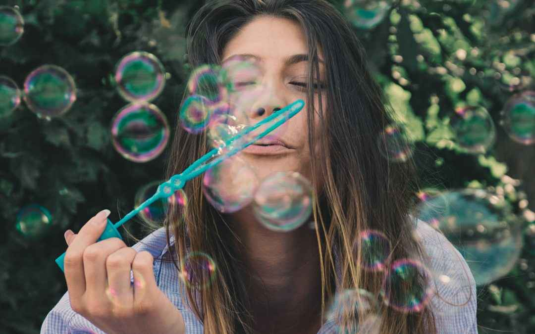 Image | Blog | Blank Image Woman Blowing Bubbles