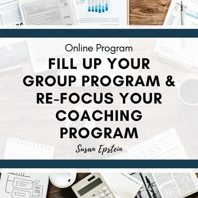 Image | Program | Fill Up Your Group Program & Re-Focus Your Coaching Program