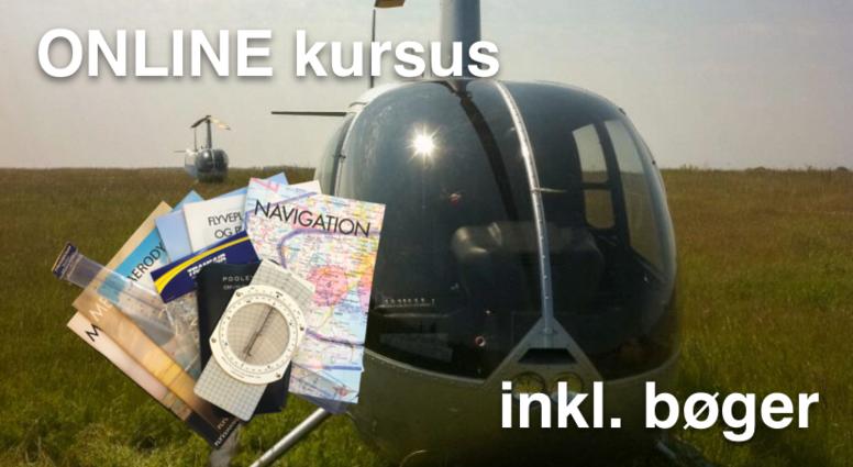 Privatflyvercertifikat helikopter inkl. bøger mm.