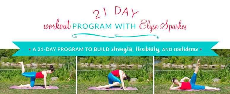 The 21 day workout program with Elyse Sparkes