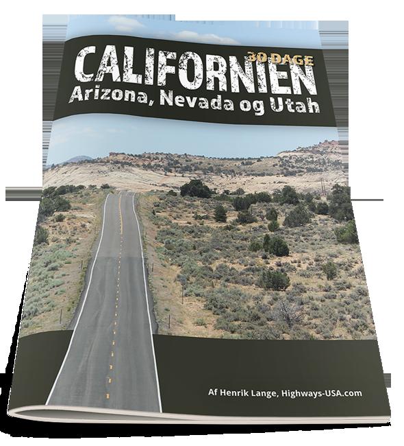 30 dages rejseplan til sydvestlige USA med Californien, Nevada, Utah, Arizona