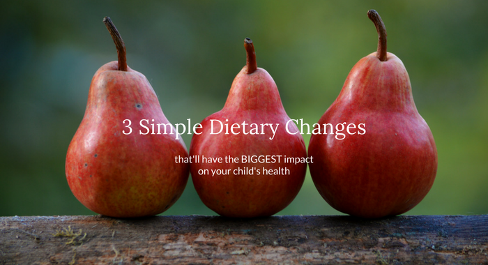3 Simple Dietary Changes Online Class