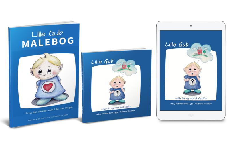 LILLE GUB BOGPAKKE med bog, e-bog og print-selv malebog