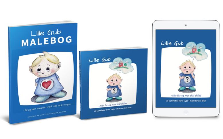 LILLE GUB BOGPAKKEN - Bog, e-bog og print-selv malebog