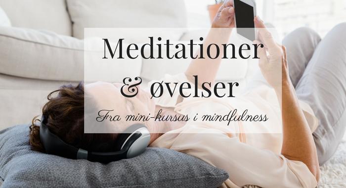 Lydfiler fra mini-kursus i mindfulness