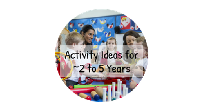 Music Activity Ideas for ~2 to 5 yrs on Early Years Music Ideas