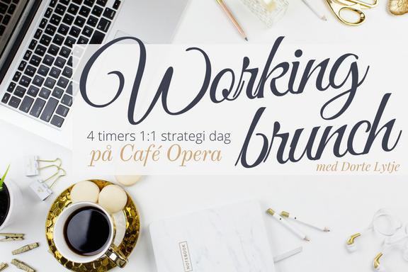 WORKING BRUNCH - 4 timers 1:1 strategi session over en brunch på Café Opera
