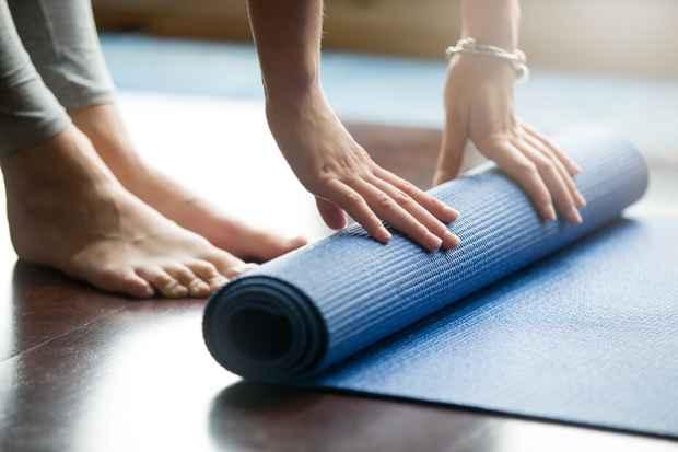 Yoga måtte rulles ud