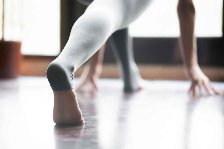 Yoga fødder i stilling