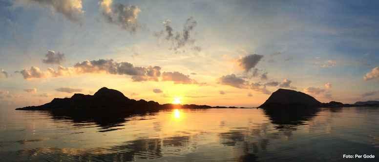 Stillevandring til øde ø i Norge den 27 maj - 2 juni