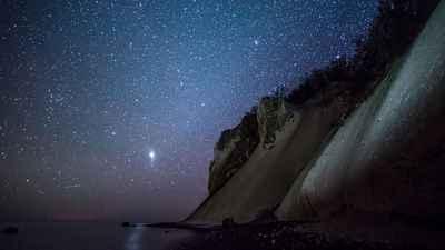 Fuldmånestillevandring på Camønoen - nærvær i Dark sky på Møns klint den 17 august