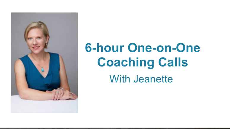 6-hour One-on-One Coaching Calls