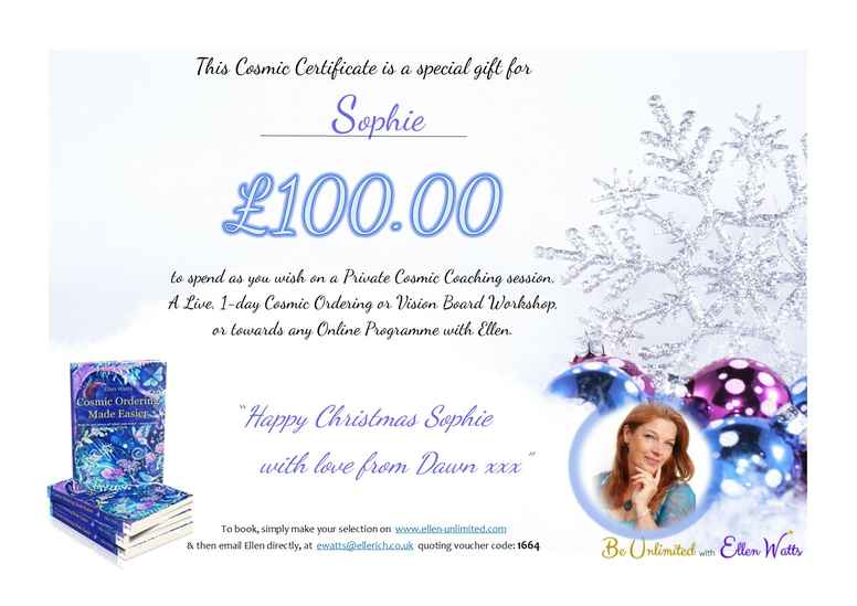 £100 Personalised Gift Certificate