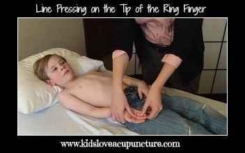 line pressing ring finger