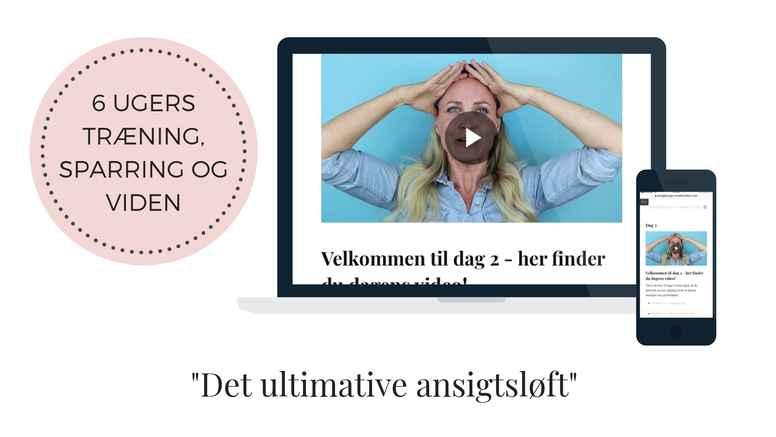 6 ugers online ansigtsyogaforløb - HOLD