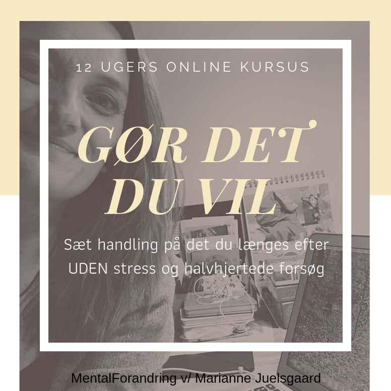 """12 ugers online kursus """"GØR DET DU VIL"""""""