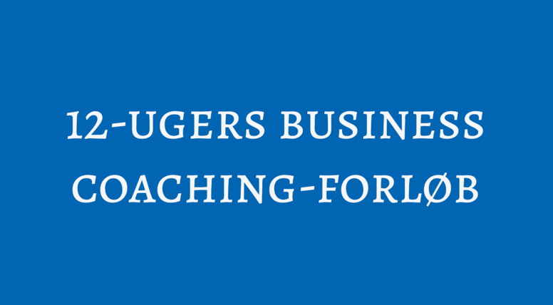 12-ugers Business Coaching-forløb
