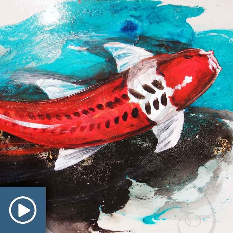 Peinture & Résine : Une Carpe koï plus vraie que nature !