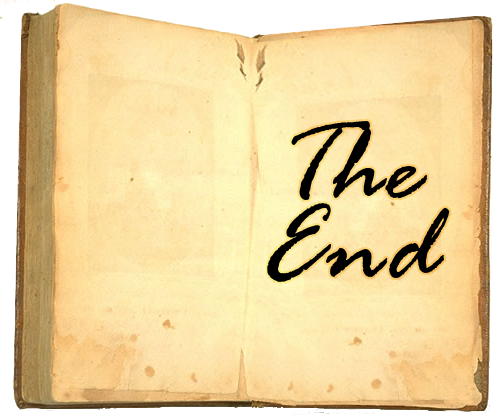 """The End"" Last Page of a Book"
