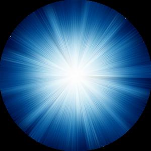Blue Starburst Round