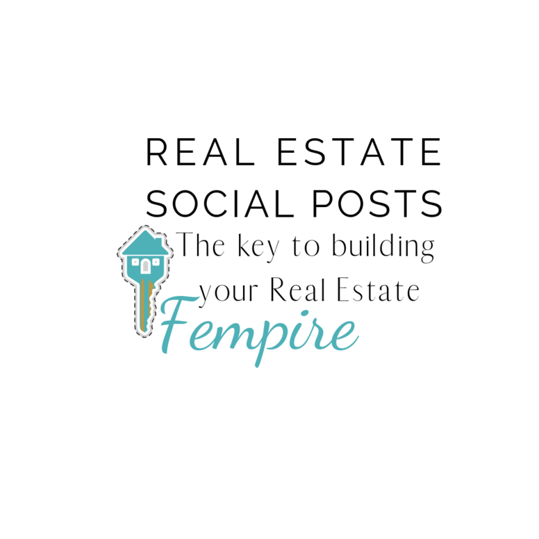Real Estate Social Posts - 110 Graphics