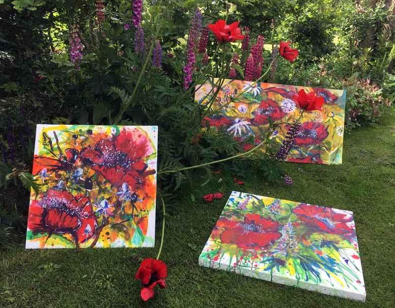 Fristende fristelser - Ekspressivt blomstermaleri
