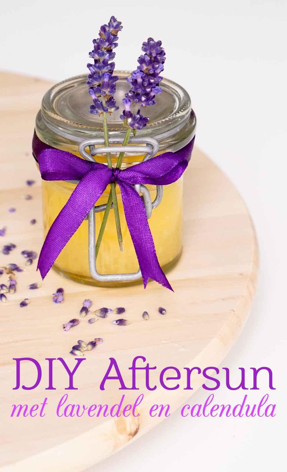 DIY aftersun met lavendel en calendula