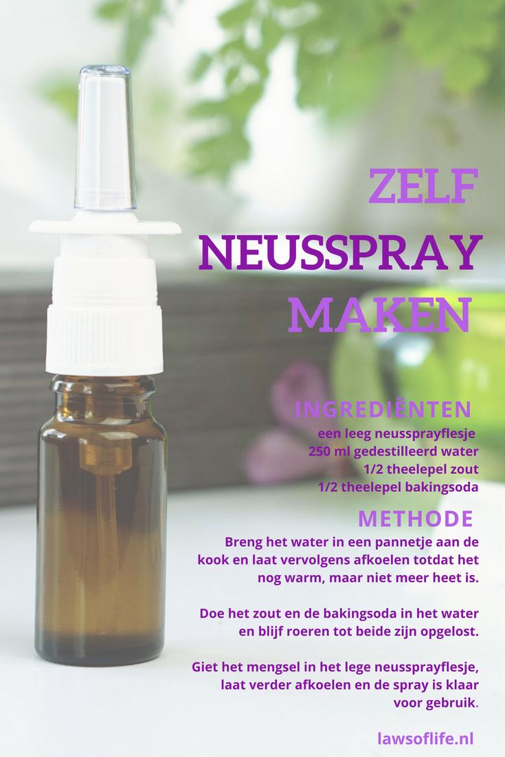 Diy neusspray van slechts 3 ingrediënten voor iedereen die kampt met otrivisme