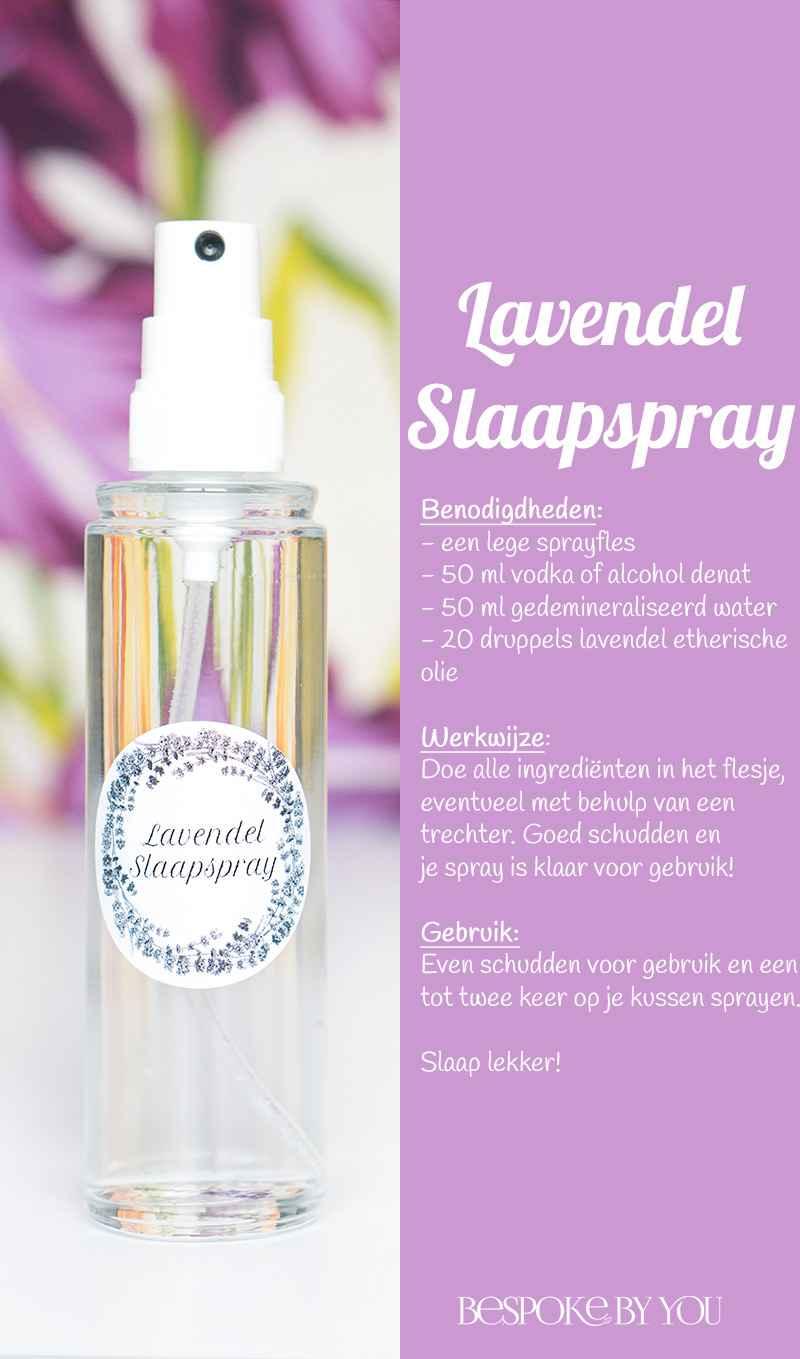 Diy slaapspray met lavendel