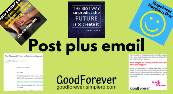Post your Content plus weekly email newsletter