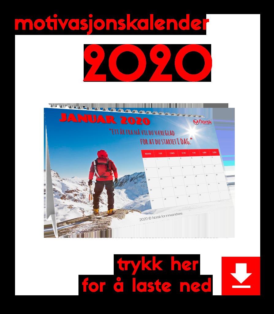 motivasjonskalender 2020 button