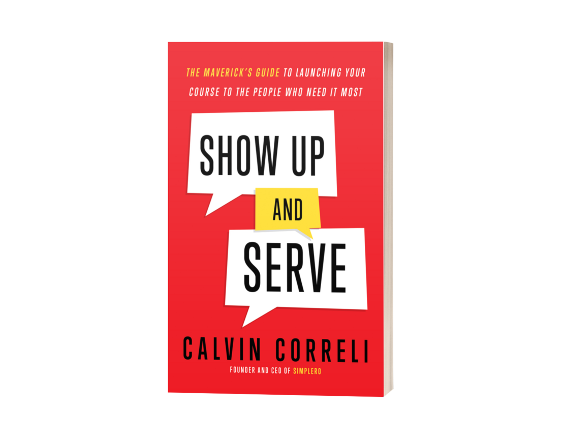 show up and serve book mockup