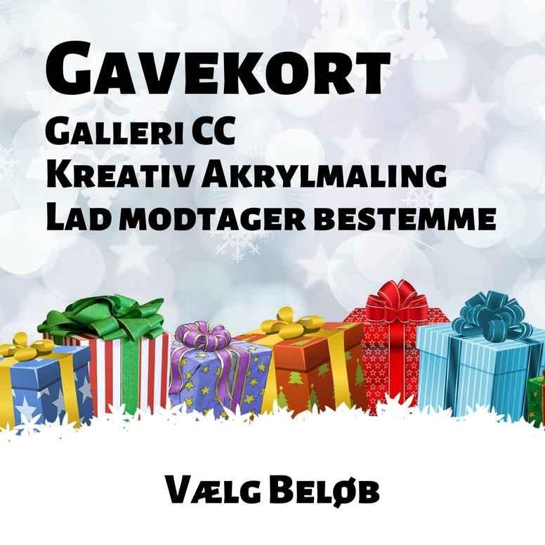 Gavekort til Gallericc.dk og KreativAkrylmaling.dk