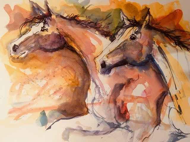 Heste i maleri