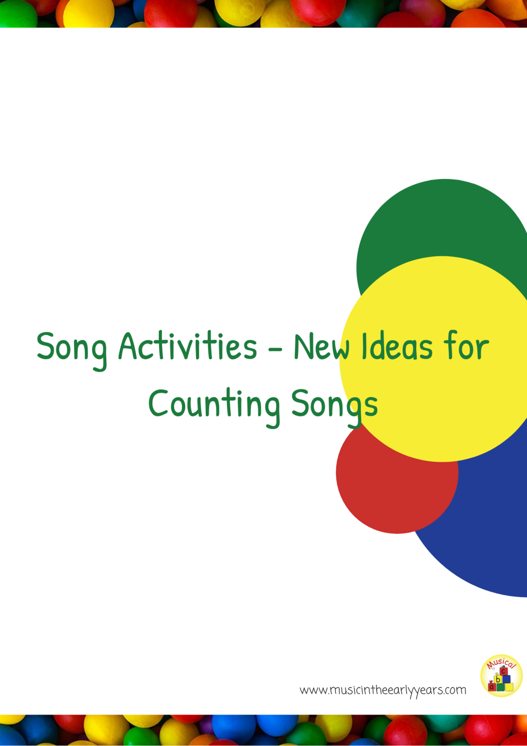 New Ideas for Counting Songs Front page of booklets