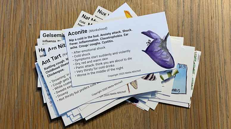 Homeopathic Flashcards, 1 set