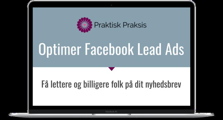 Optimer Facebook Lead Ads