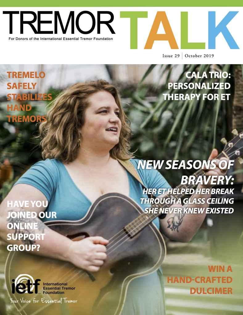 Tremor Talk Cover Story - Oct 2019 - EmilyAnnPeterson.com