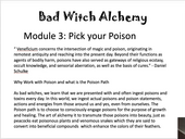 Bad Witch Alchemy,Module 3 Pick Your Poison.mp4