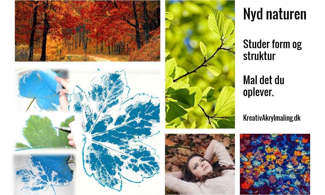 Natur og blade som inspiration