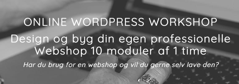 ONLINE WORDPRESS WORKSHOP - Webshop