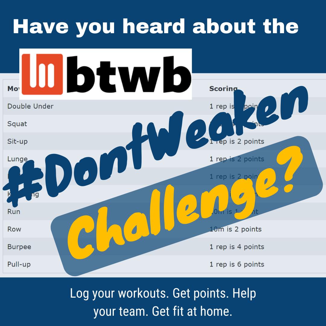 Don't Weaken Challenge (1)