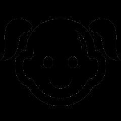 Ikon-pige-barn-sort-iconmonstr-generation-4-240