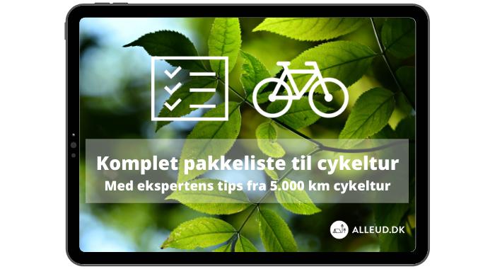 Komplet pakkeliste til cykeltur - Med ekspertens tips fra 5.000 km cykelture