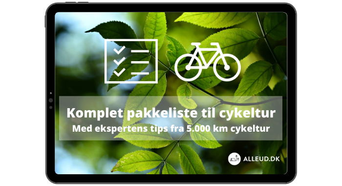 Cover -gron m tjeklisteikon- Komplet pakkeliste til cykeltur
