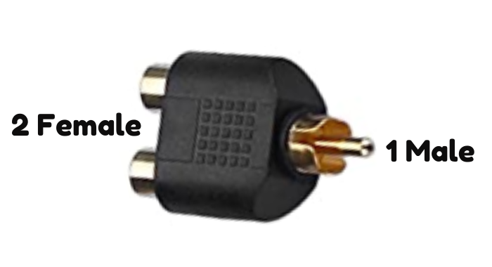 2F-1M - Y connector RCA (phono)